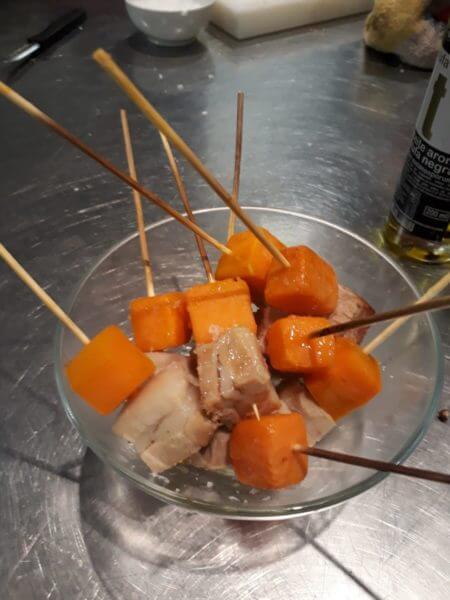 aperitiu de moniato i cansalada